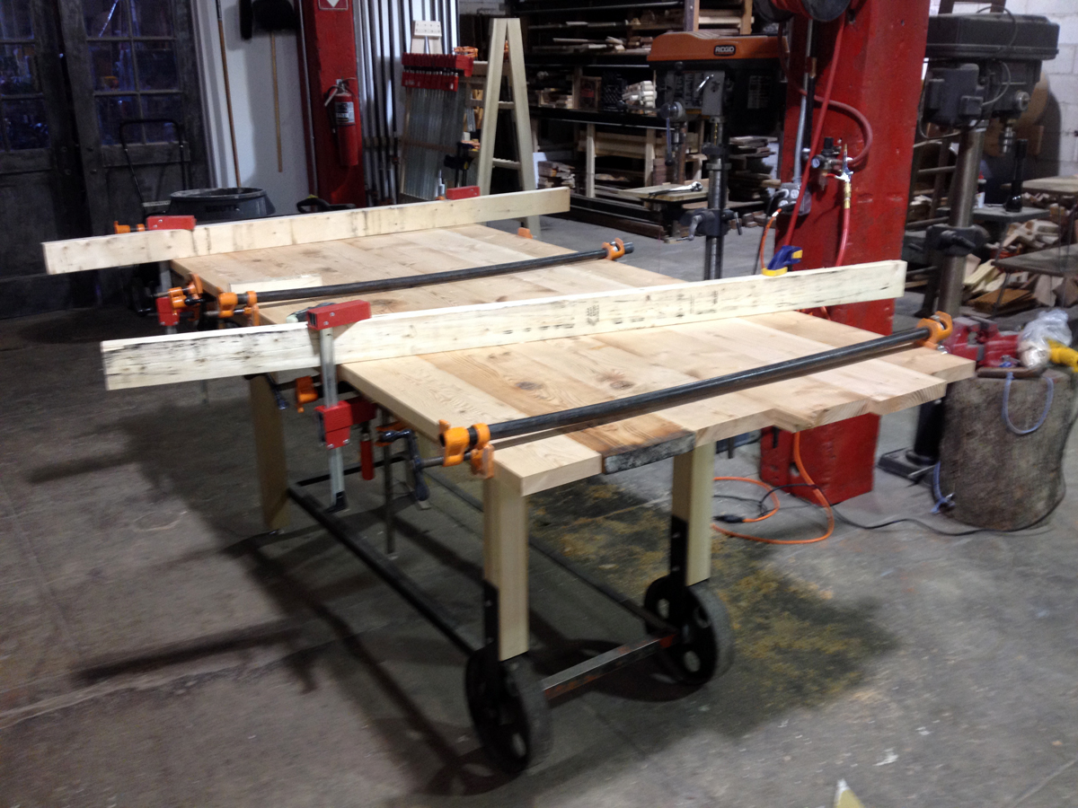 The glue up.