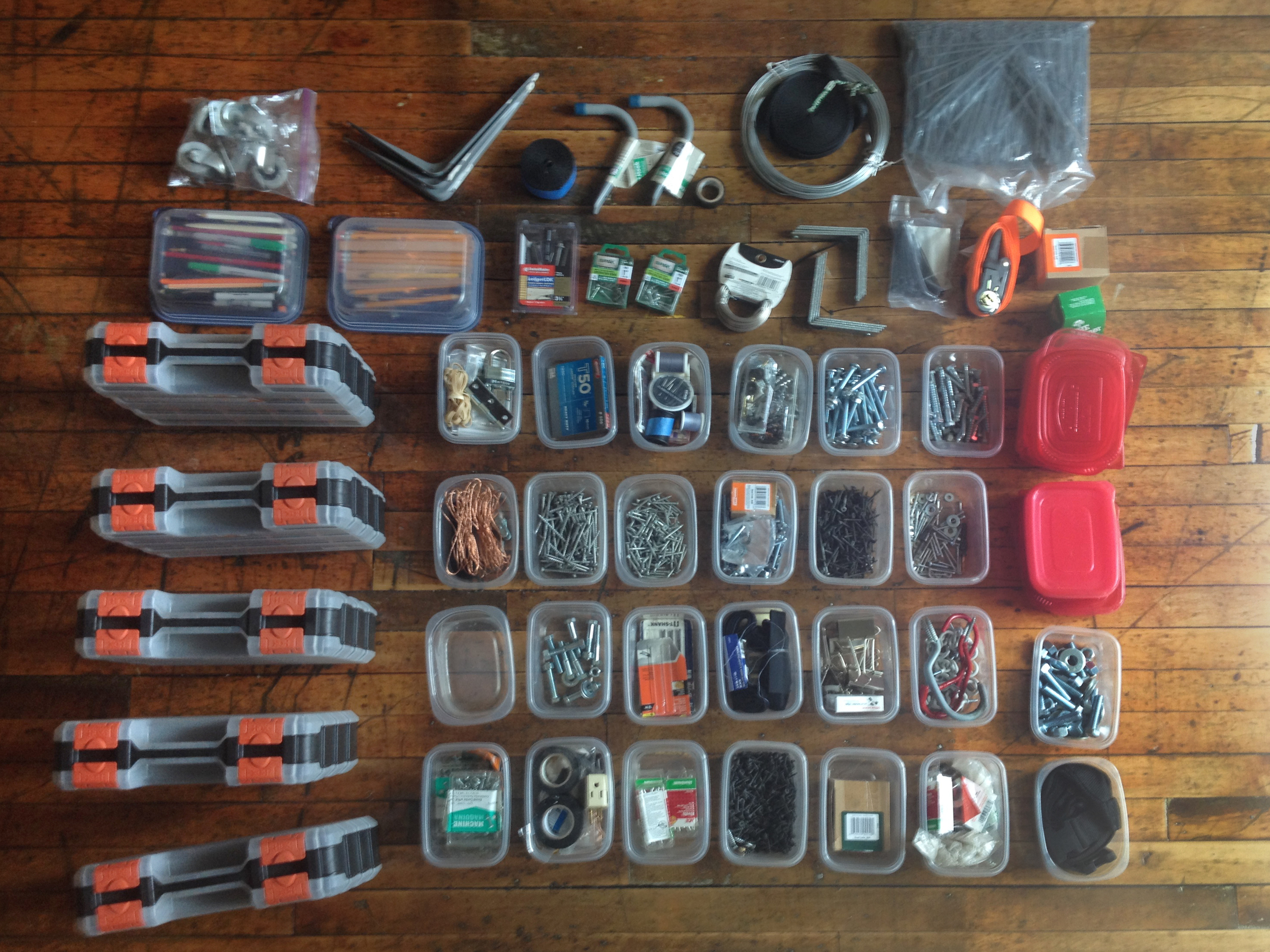 The fasteners were the bulk of the work.  Always be knolling.