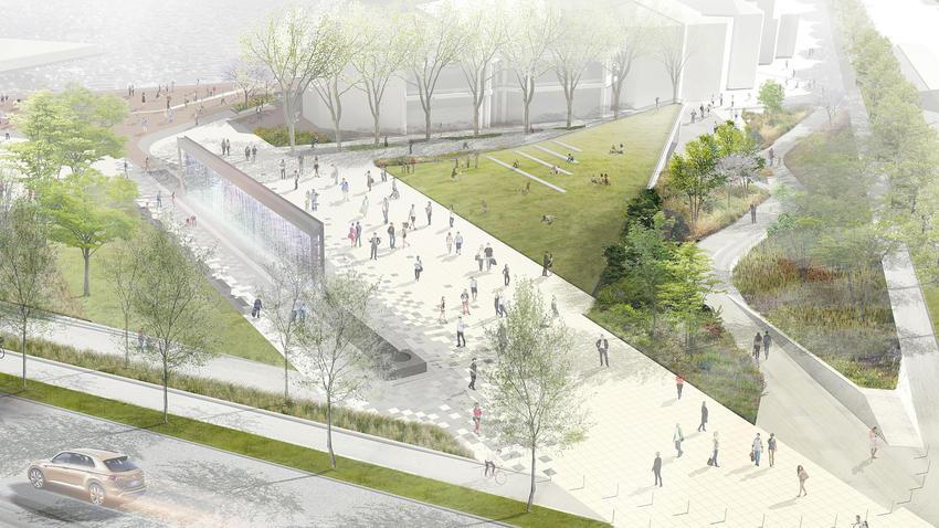 New plans for McKeldin Fountain,  via Bmore Art.