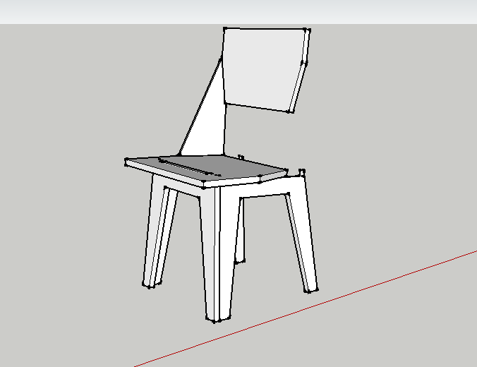 My first sketch of the Zip Tie Side Chair.