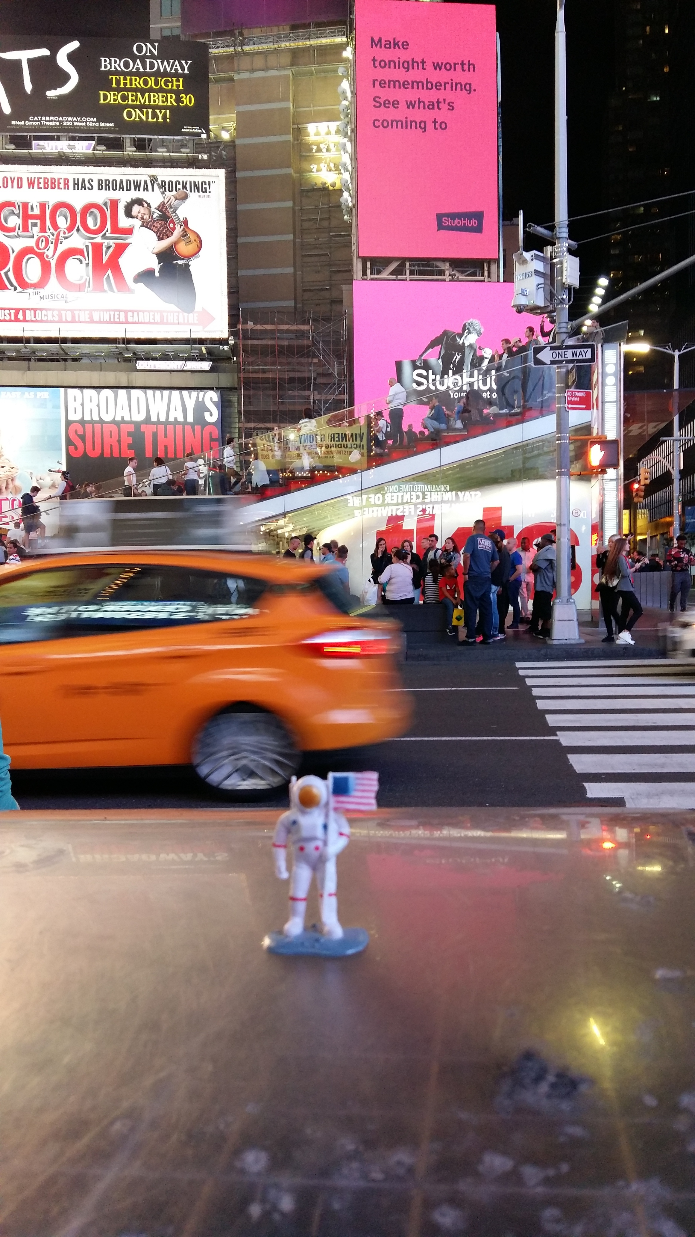 JJ the astronaut is in Times Square!