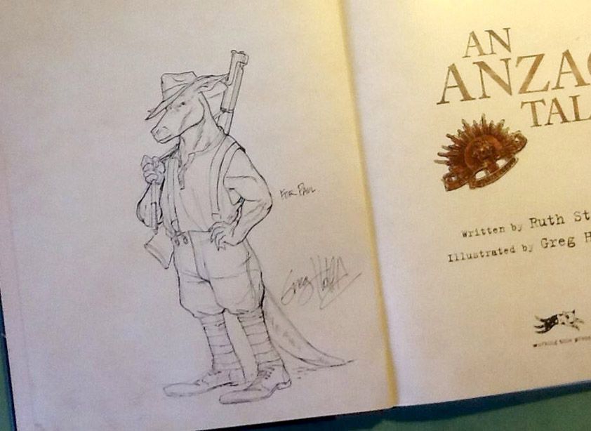 Examples of book sketches - free for the asking with your order.