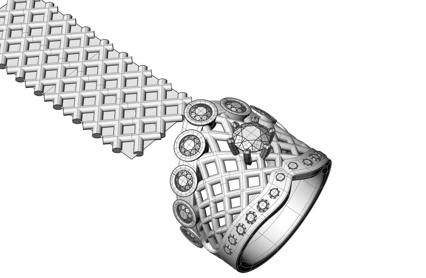 3D model of ring design