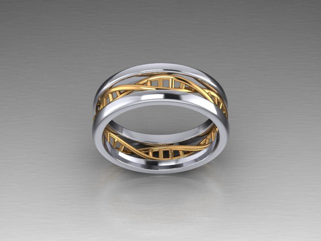 Sterling Silver And 14k Yellow Or Rose Gold Two Tone Dna Ring Zander S Creations Engagement Rings Wedding Rings Wedding Band Contemporary Jewelry Art Deco Jewelry Antique Jewelry Gold Jewelry Silver Jewelry
