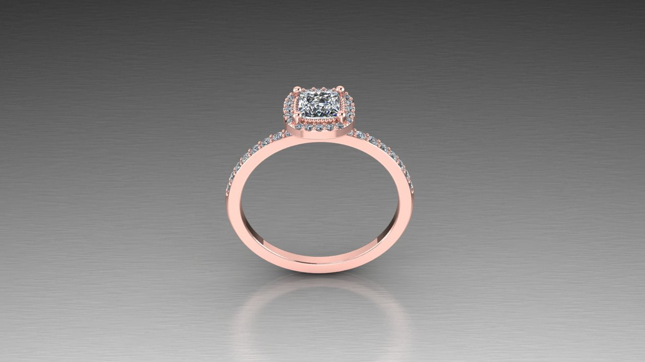 Elegant Half Carat Princess Cut Diamond Halo Ring In 14k Rose White Or Yellow Gold Zander S Creations Engagement Rings Wedding Rings Wedding Band Contemporary Jewelry Art Deco Jewelry Antique Jewelry Gold