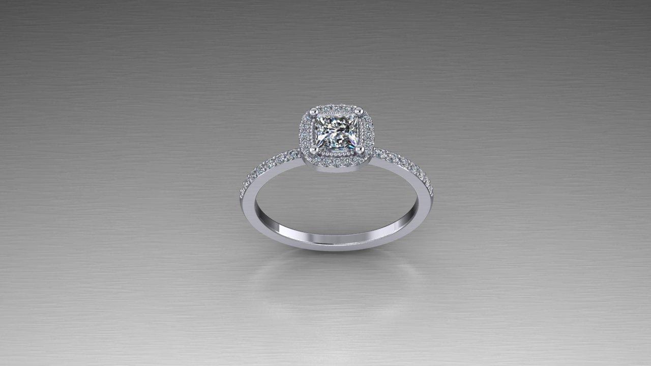 Elegant Sterling Silver Half Carat Princess Cut Halo Ring Zander S Creations Engagement Rings Wedding Rings Wedding Band Contemporary Jewelry Art Deco Jewelry Antique Jewelry Gold Jewelry Silver Jewelry Platinum Jewelry Diamond