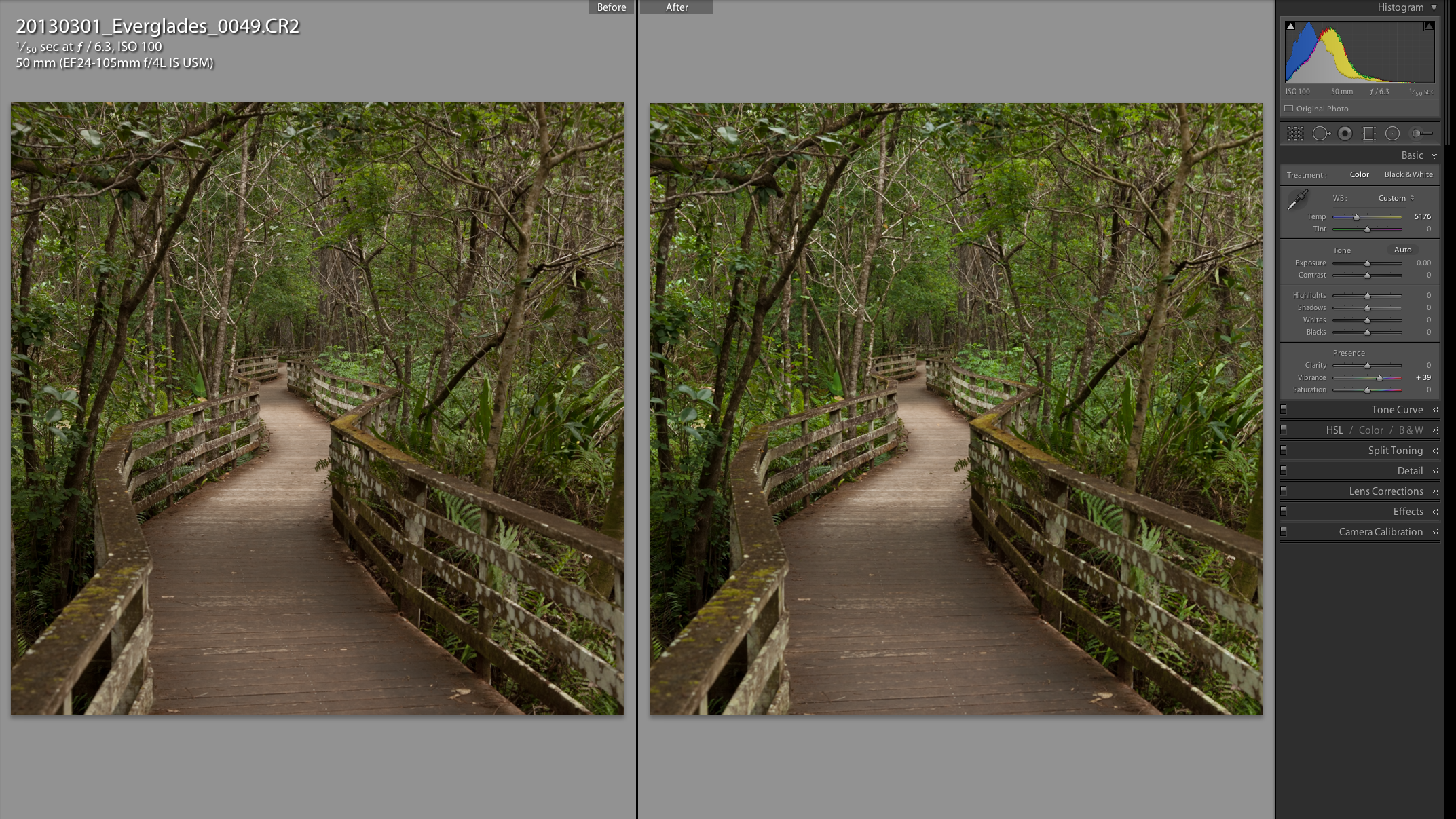 RAW processing in Adobe Lightroom 5