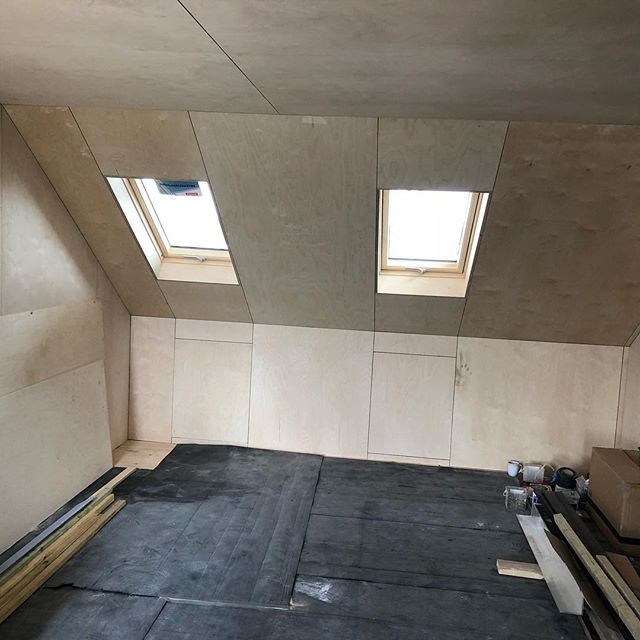 Loft Birch Plywood Paneling N15 London