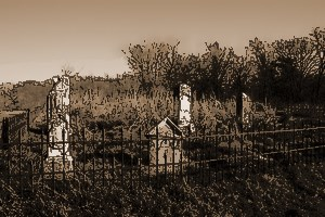 The cemetery behind the old house!