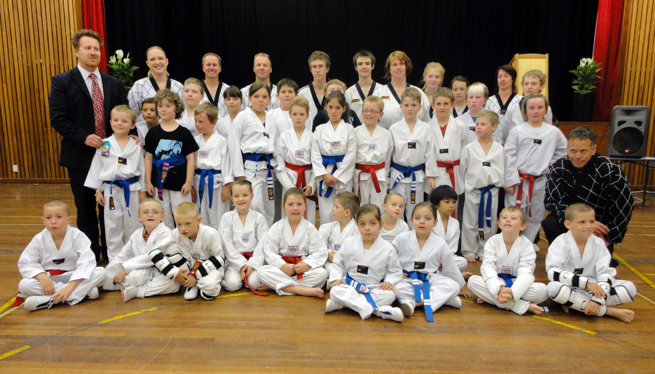 Junior Blue and Red Belts