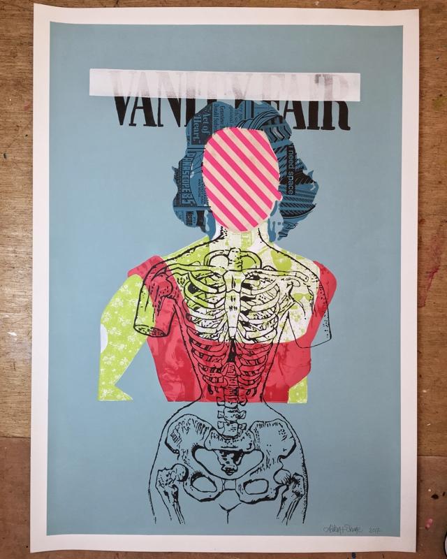 LIZ I  -  (102 x 72 cm) -Price:  €800  Acrylic and screen print on paper