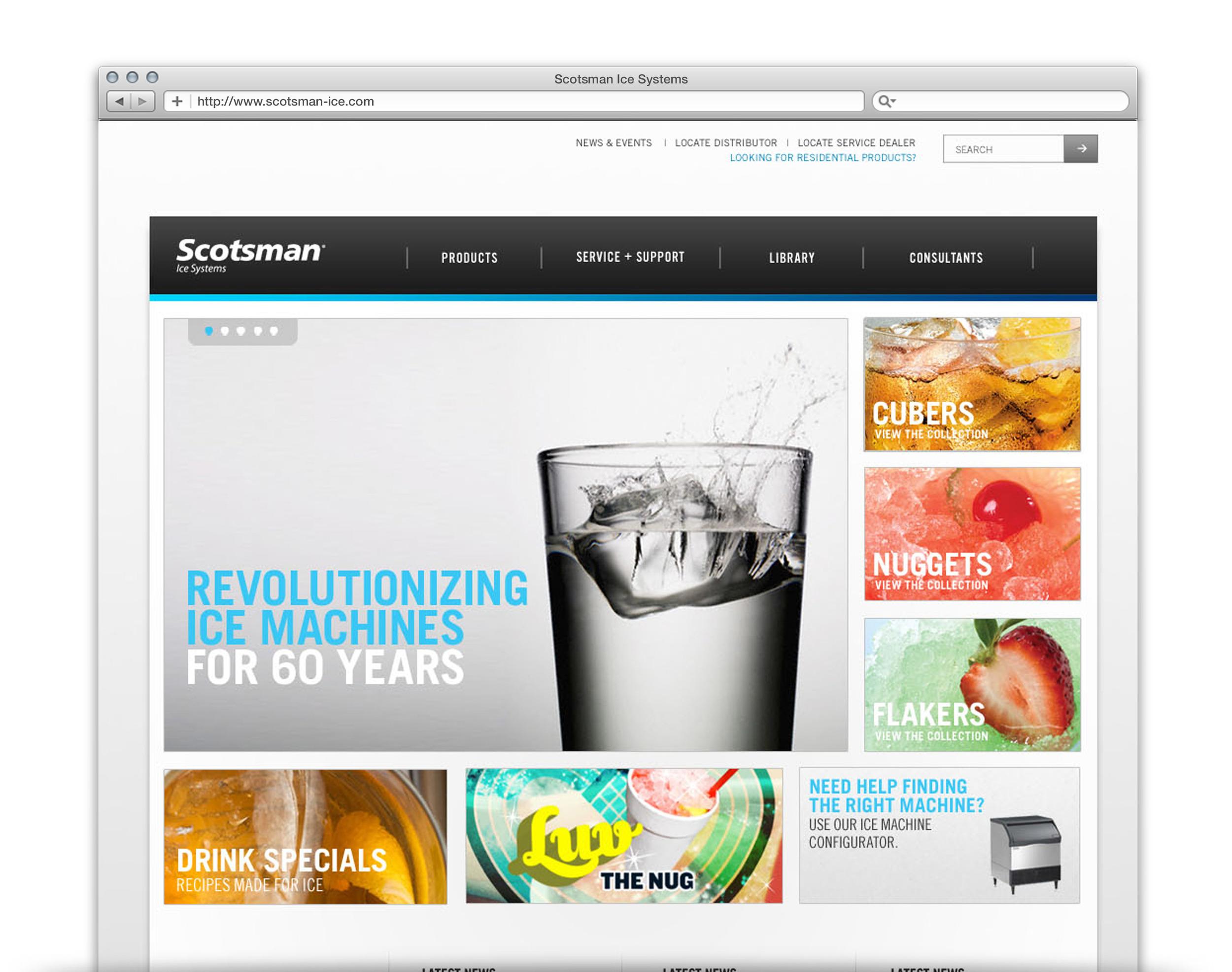 Scotsman Ice Corporate Site - UX + UI Design