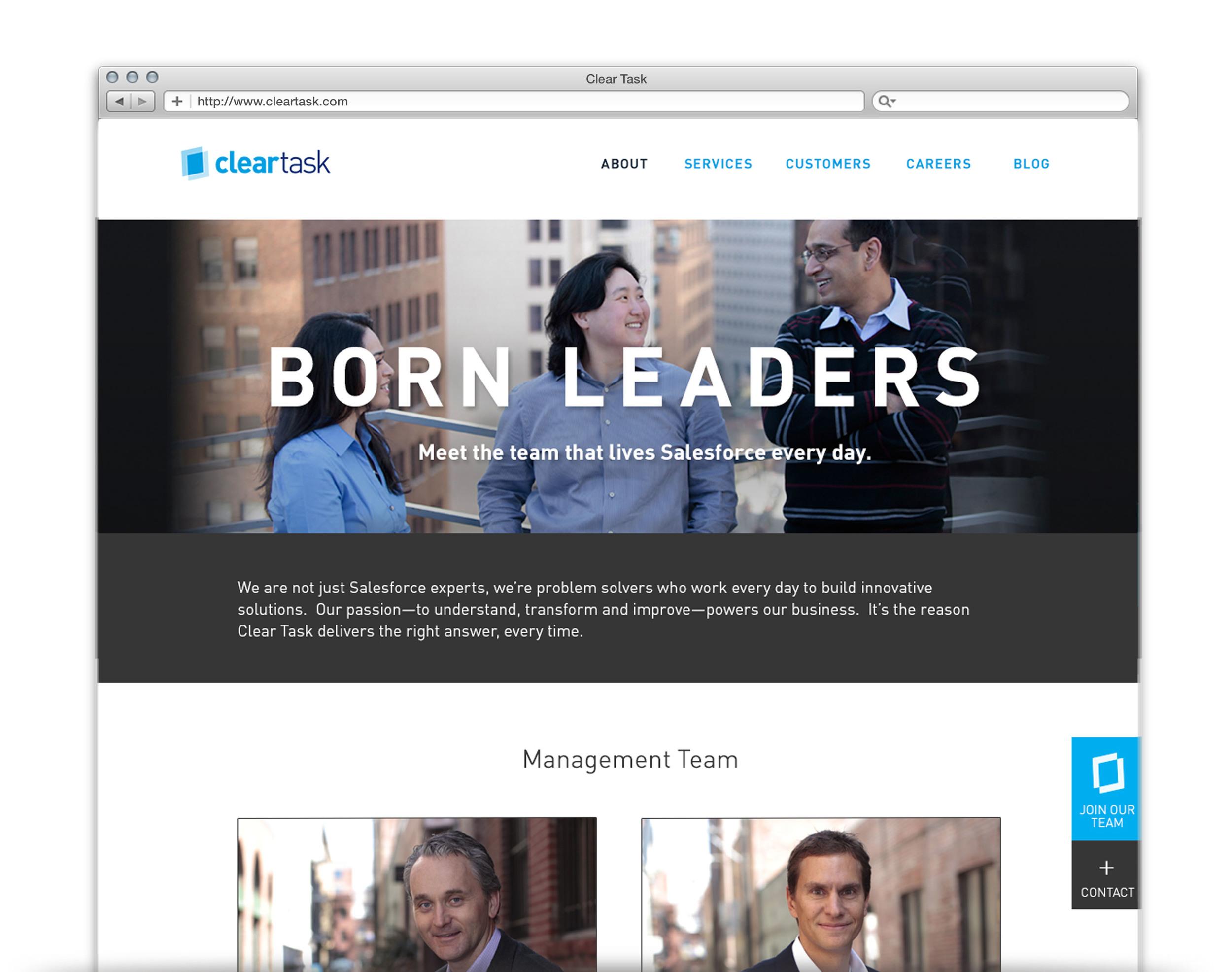 Clear Task Website - UX + UI Design