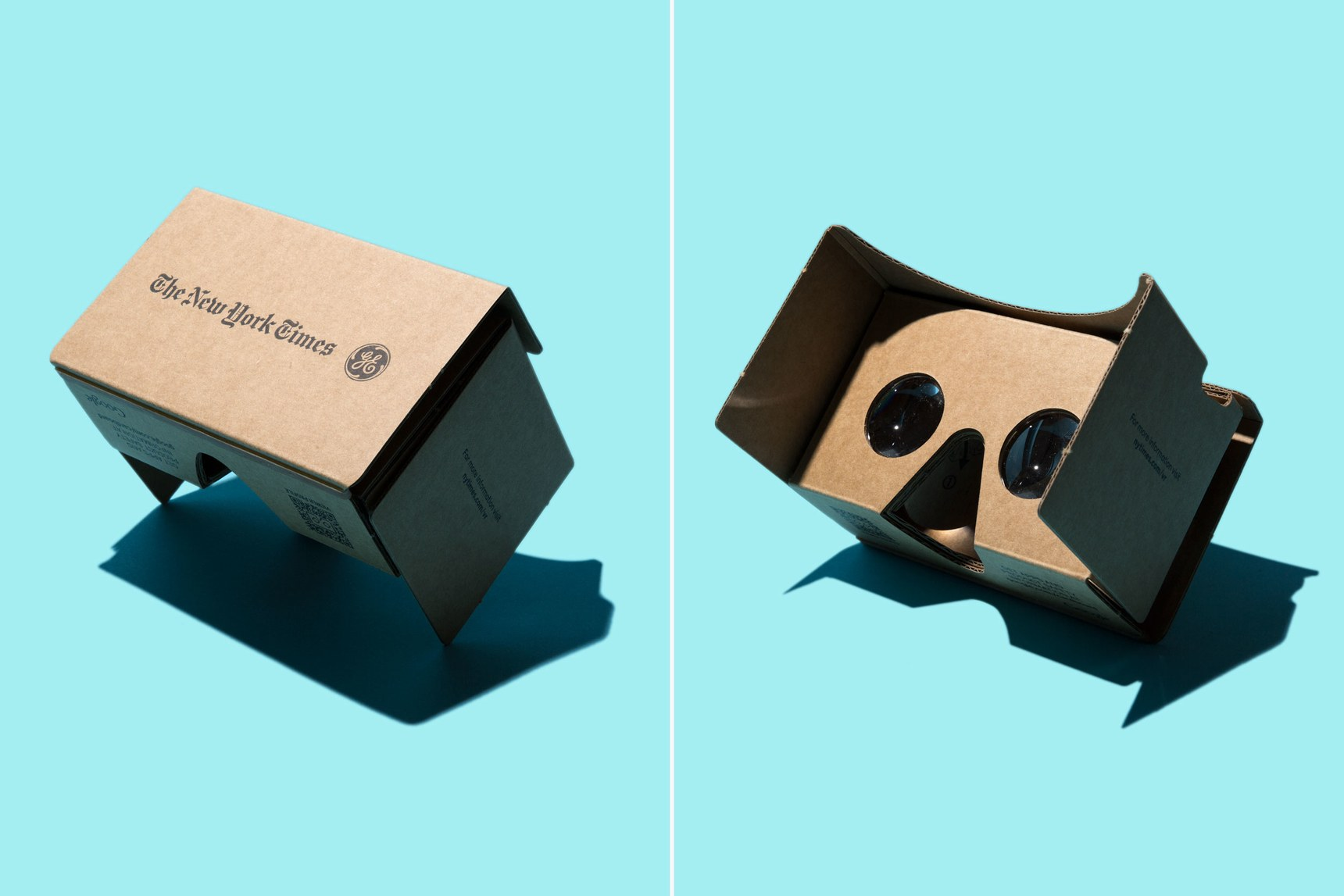 New York Times/GE Cardboard virtual reality viewer collaboration via WIRED