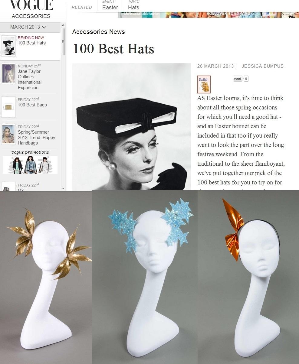 Vouge.com 100 Best Hat March 13