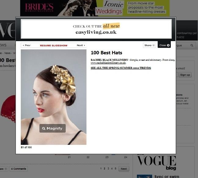 Vogue.com, 100 Best Hats