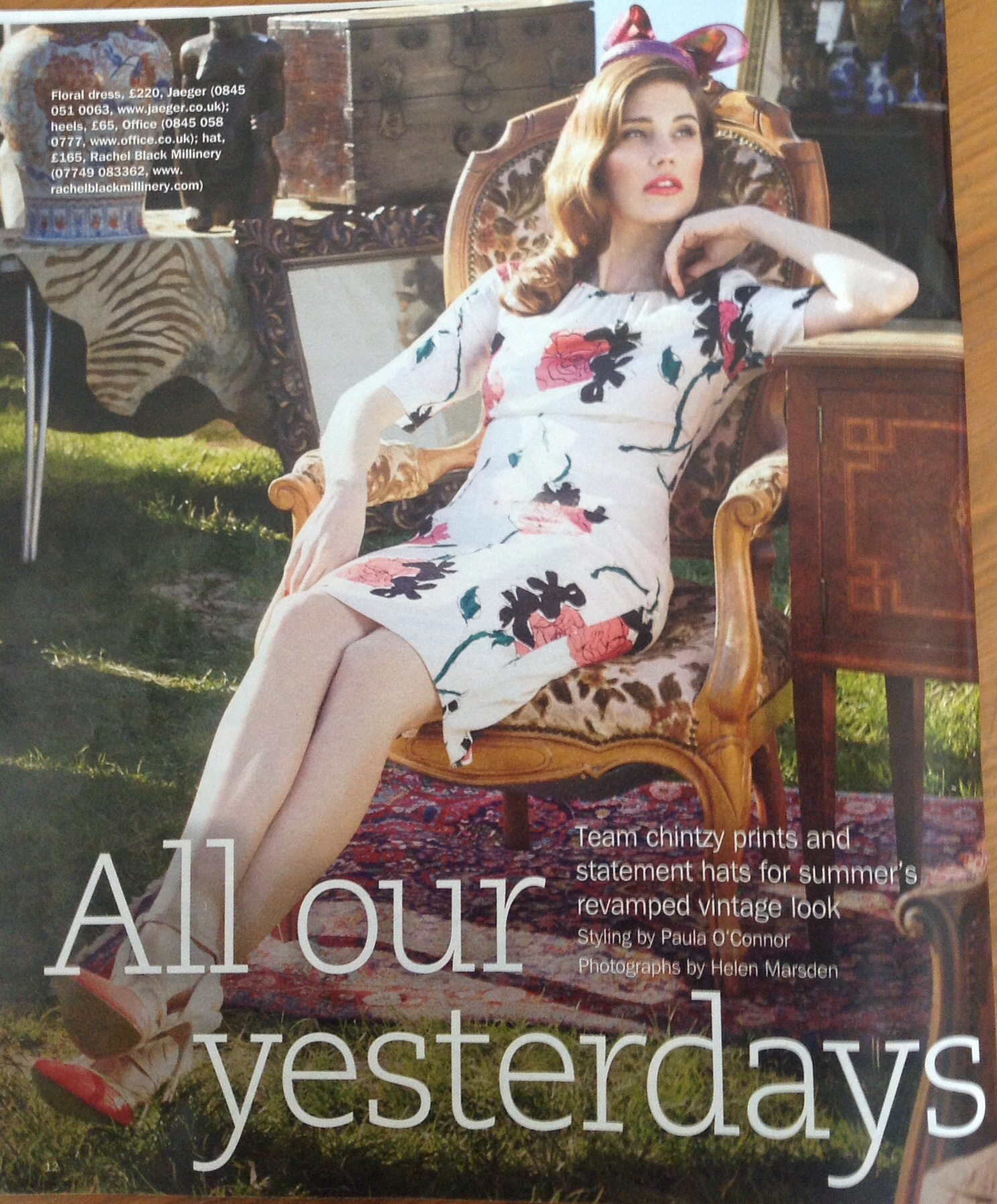 Martha in 'S' Magazine, Sunday Express