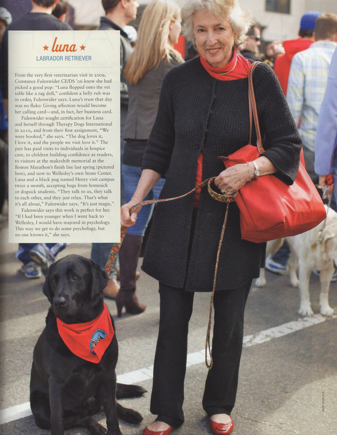 Wellesley Magazine - Fall, 2013  Campus Wags , pg. 29