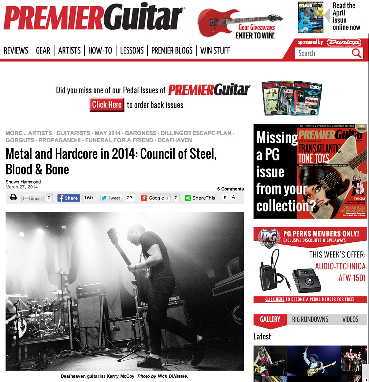 Premier Guitar - March 27th, 2014   Metal and Hardcore in 2014: Council of Steel, Blood & Bone