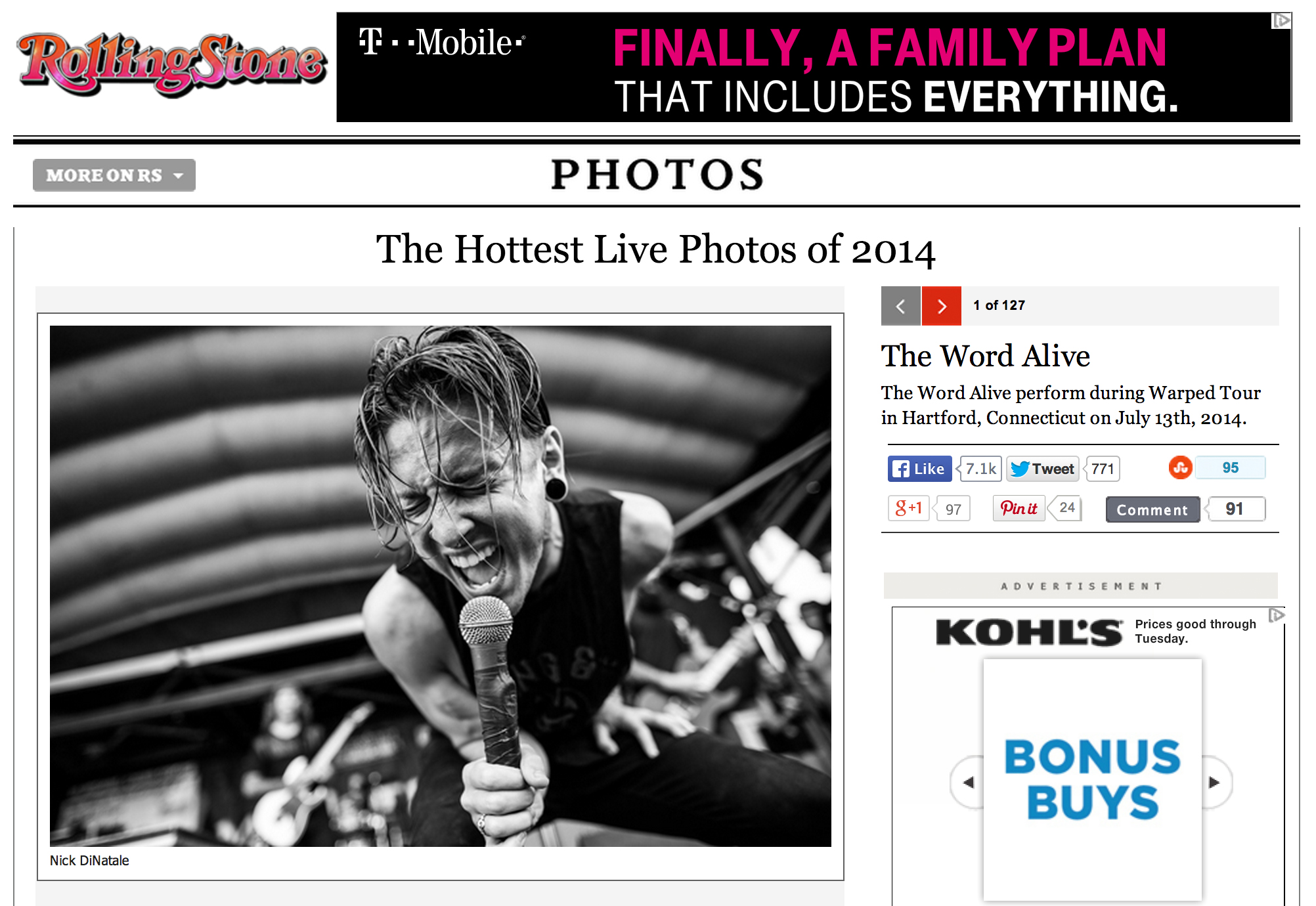 Rolling Stone - July 14th, 2014   The Hottest Live Photos of 2014