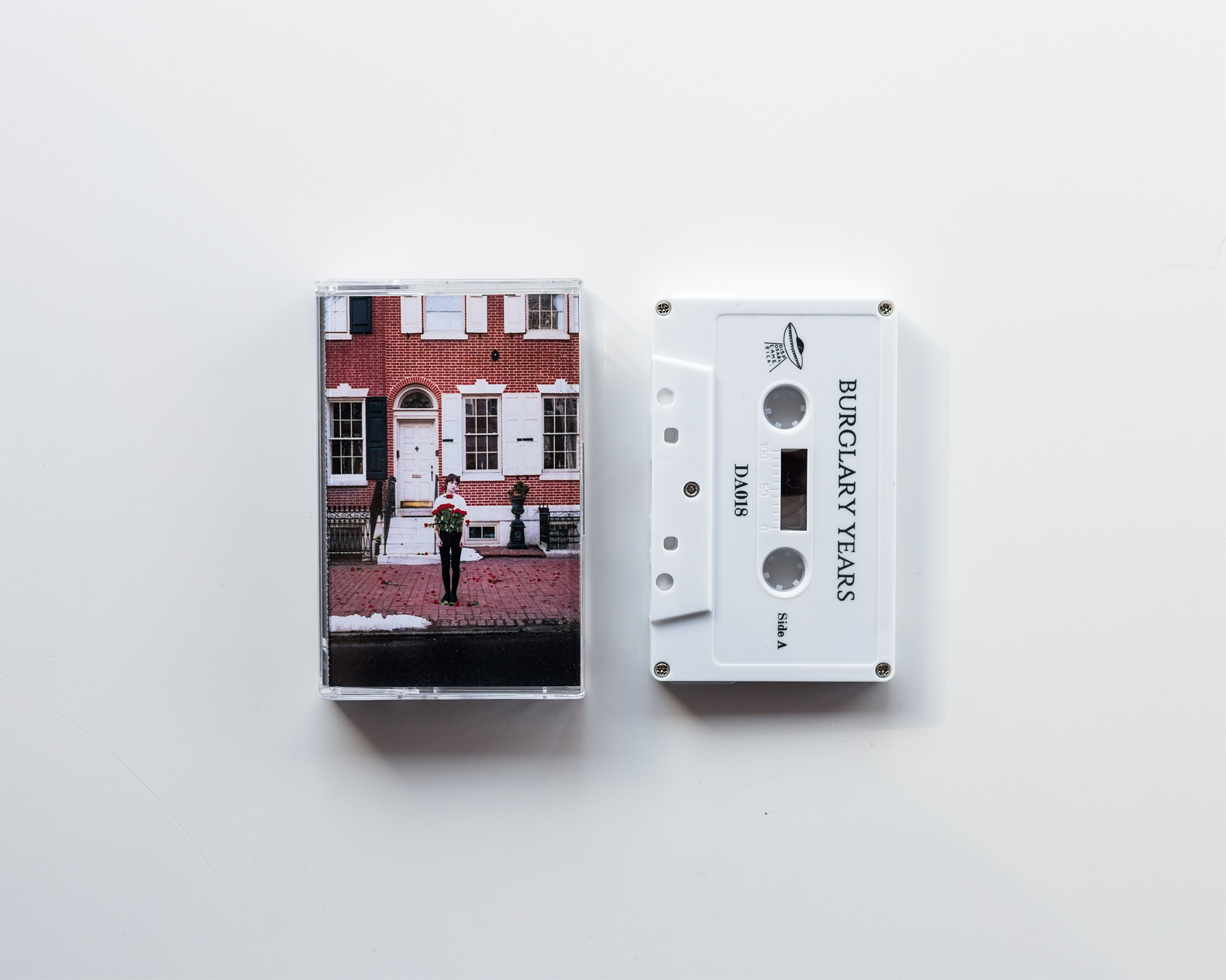 Burglary Years -  100 Roses  Cassette via Disposable America Cover and insert photos