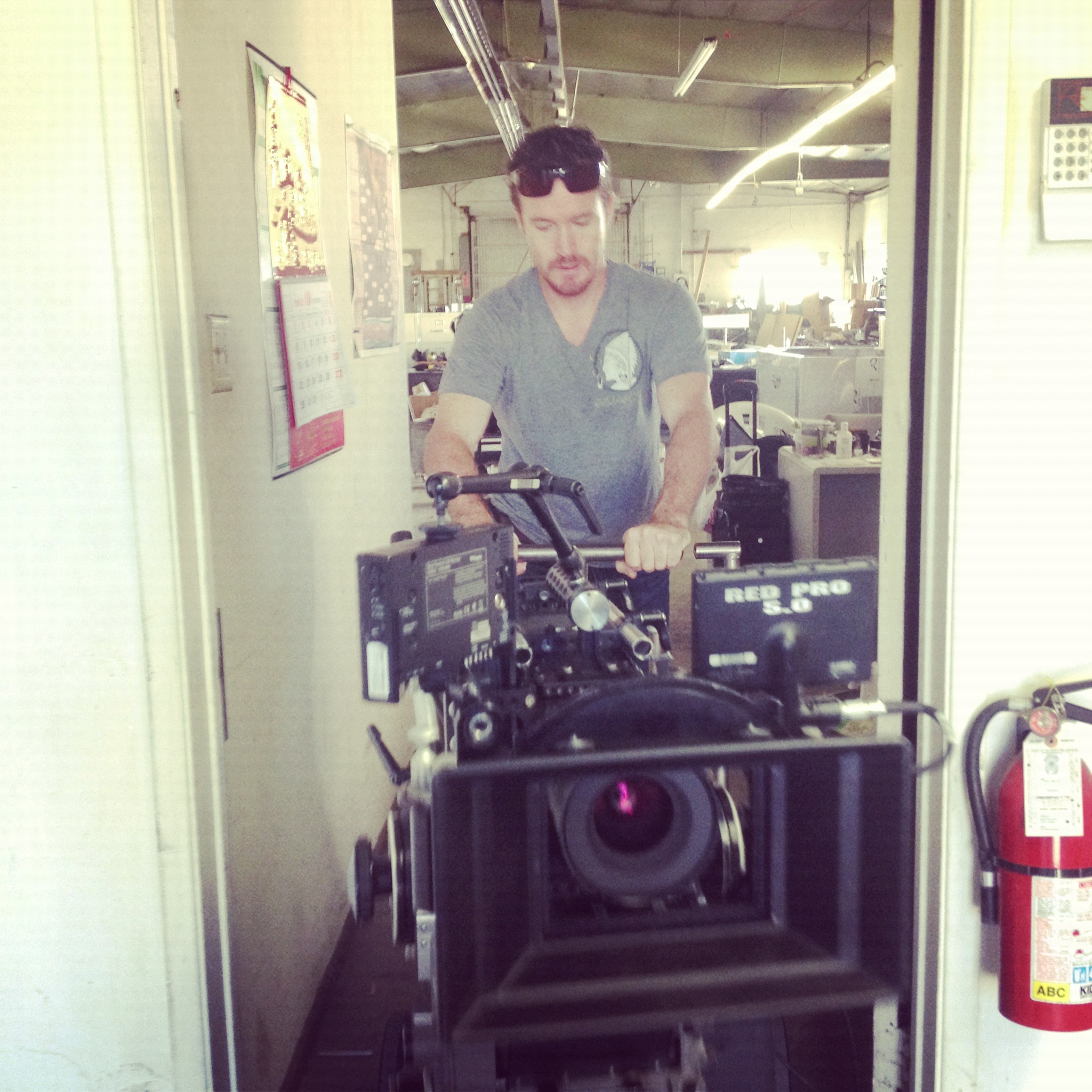 Cam with our Red Epic from Panavision's New Filmmakers Program.