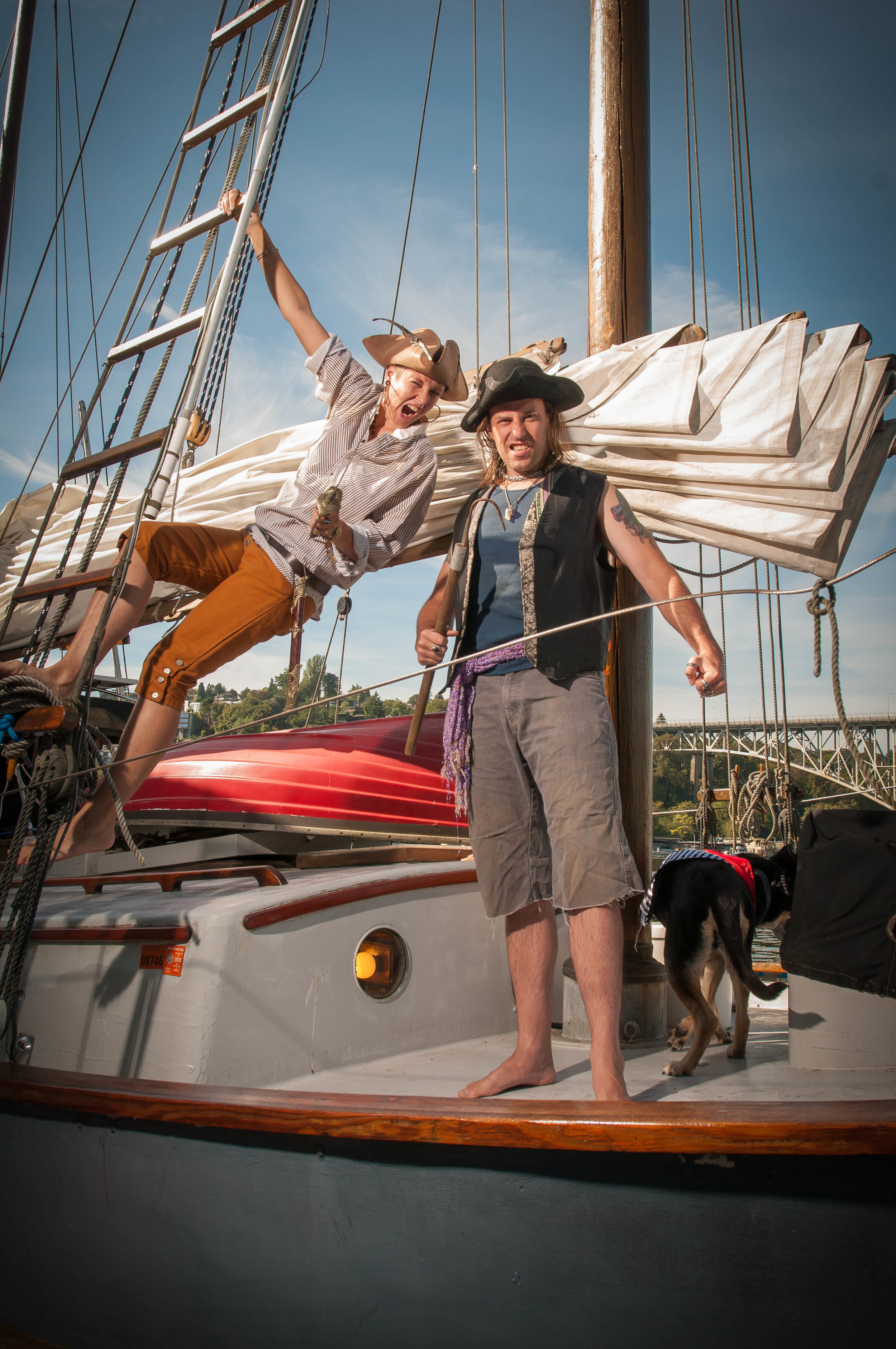 Having fun on the high seas is easy. In the marina we sometimes have to make our own fun.