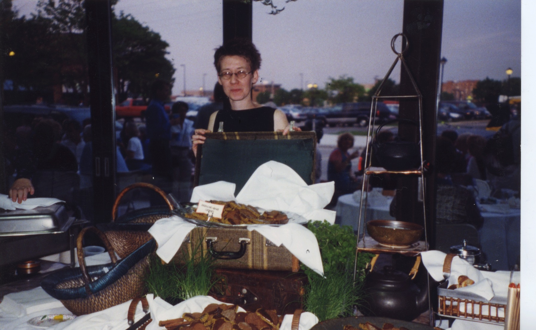 Linda at On Broadway's very first Taste on Broadway, Summer 1999. Kavarna hadn't opened yet.