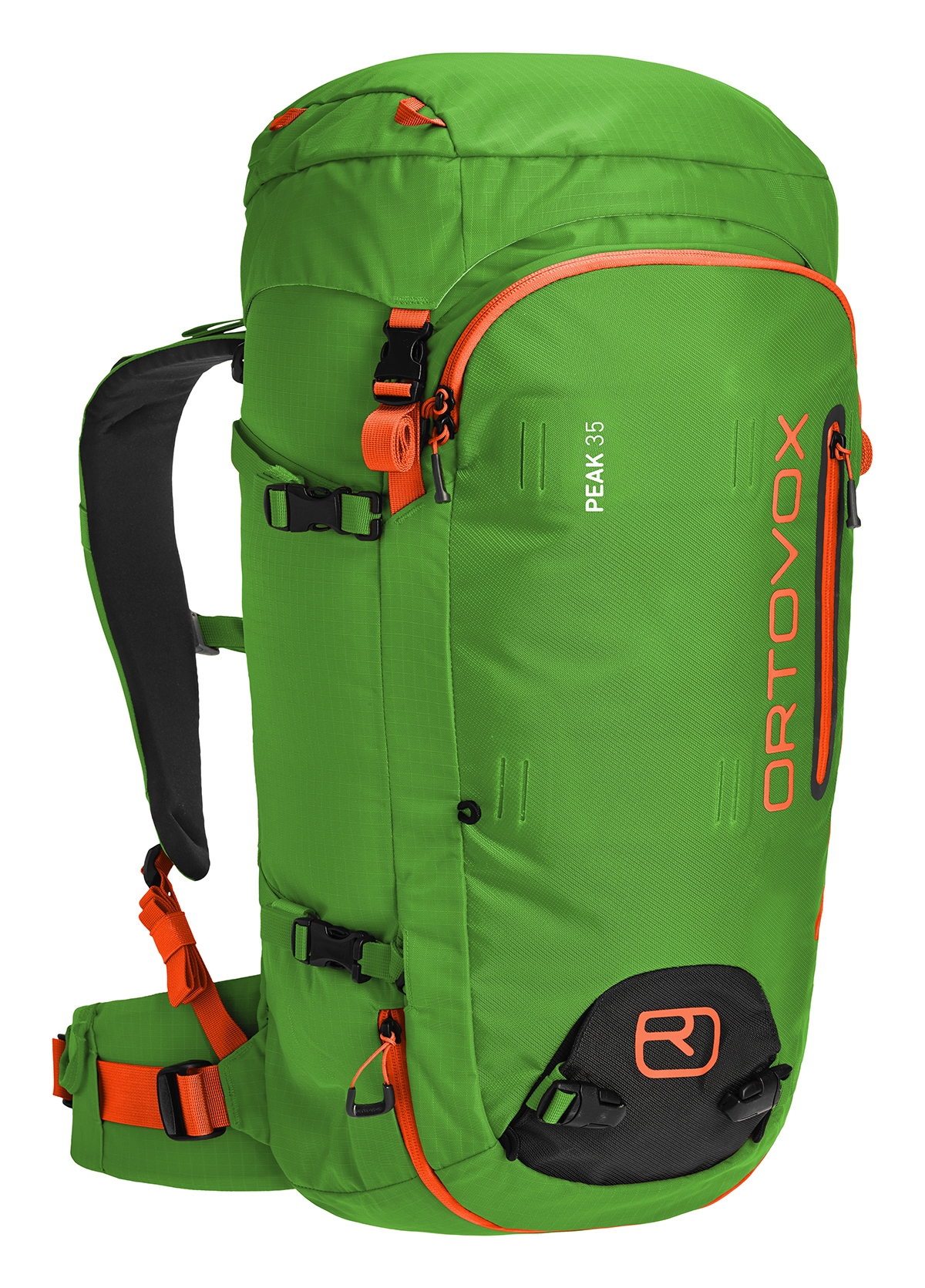 Ortovox Peak 35 Backcountry Pack .  True story:  this is the best ski pack I've ever had the pleasure of carrying.  Clean lines, incredible attention to detail, carries great, and has a perimeter zipper that will make you turn your nose up at every other pack.  Is it possible a pack can make you want to ski more?  This one does.   LINK