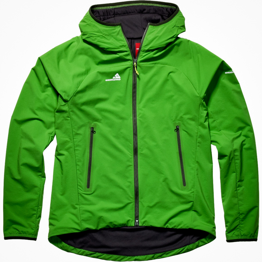 The  Westcomb Tango Hoody  is pretty much the ultimate shoulder season jacket.  Enough stretch for skiing or climbing, enough insulation for the coldest winter/spring/whatever-season-this-is days, and an epic amount of smart style.   LINK