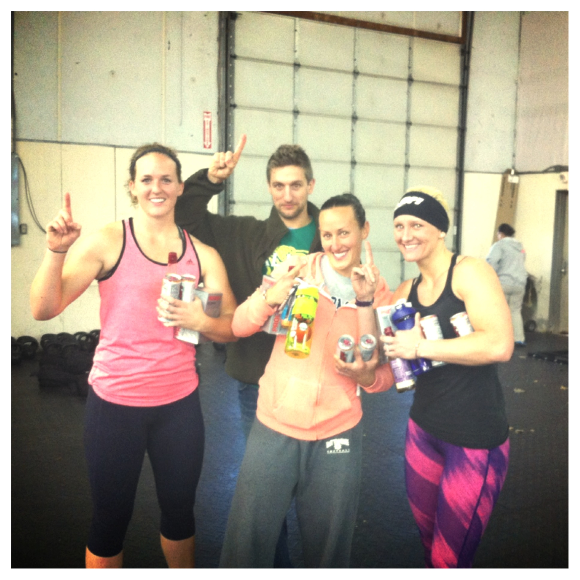 First place at CrossFit Shift's Novembrawl.  Cat, Lindsey and Kelsey.