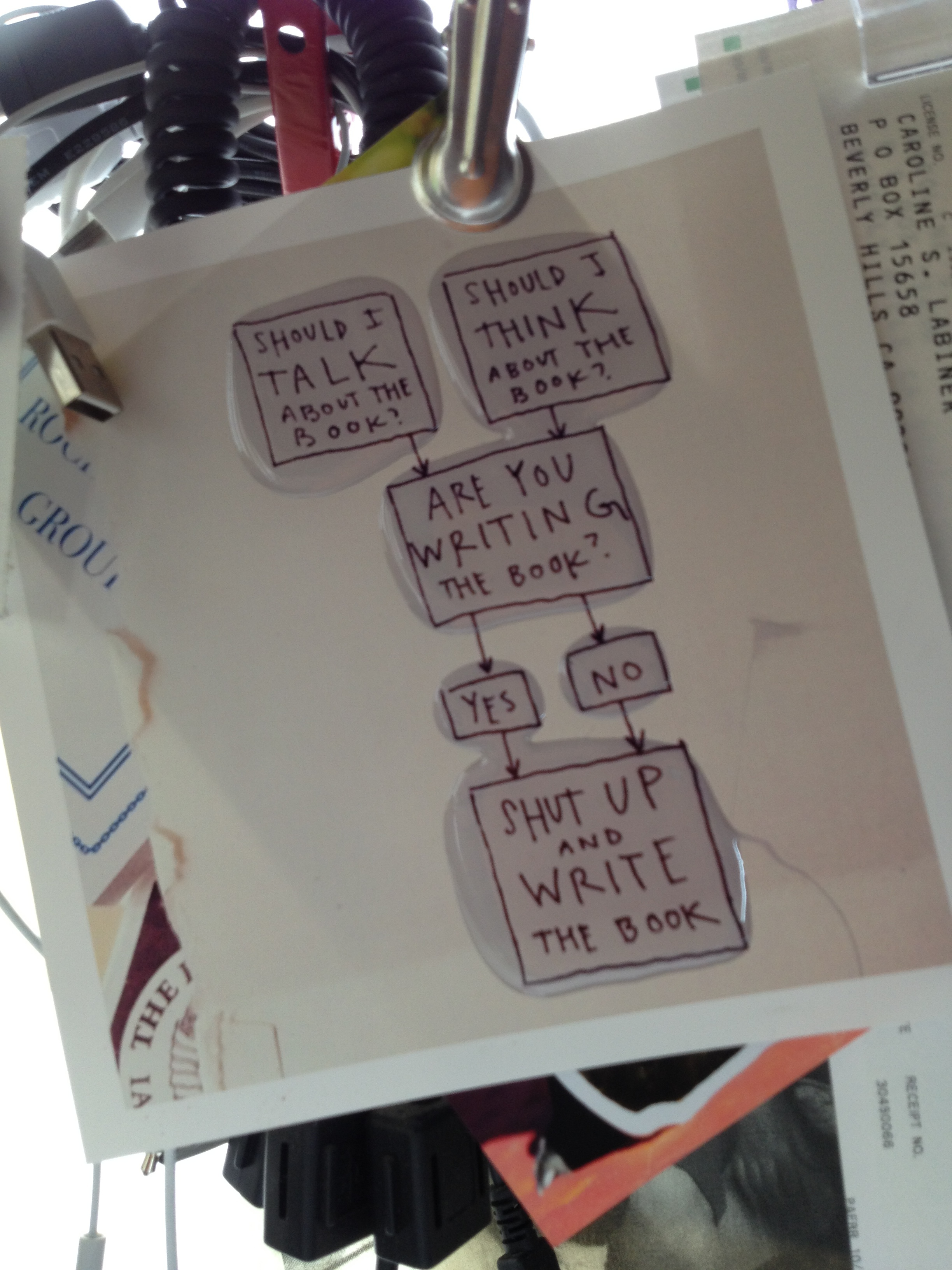 Playing with a copy of one of Kleon's pithy thoughts and some clear resin for a different project....