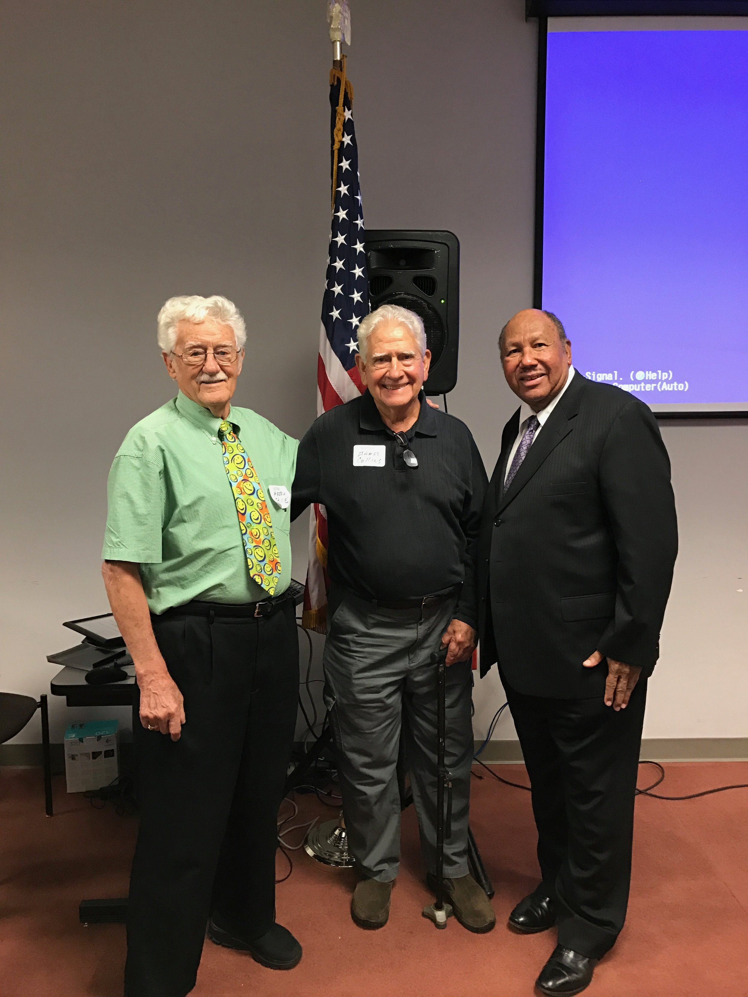 Jim Collins Owner of Auto-Safe Inc with Harry Stille and Albert Neal