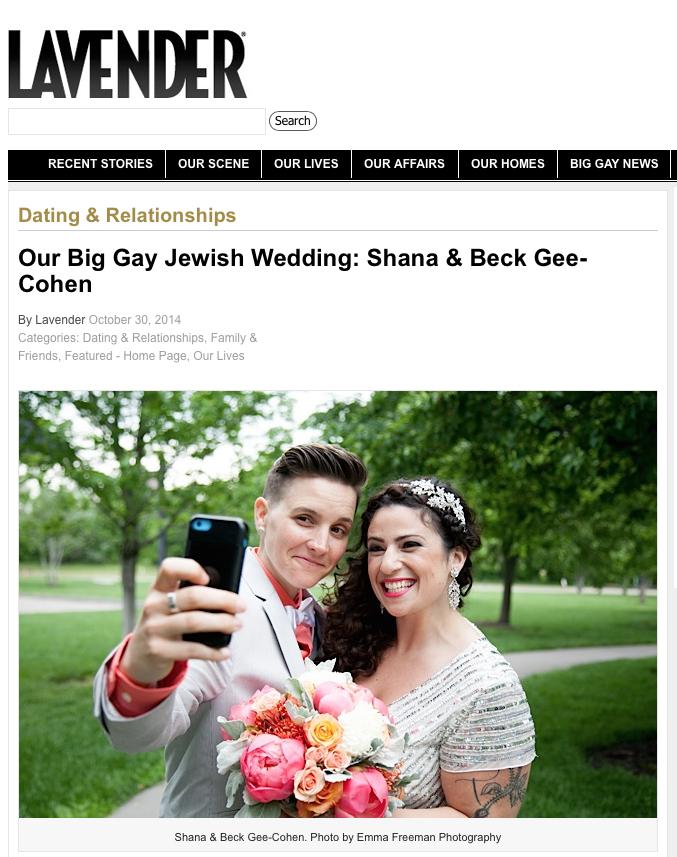 Lavender Magazine Queer Wedding Minneapolis