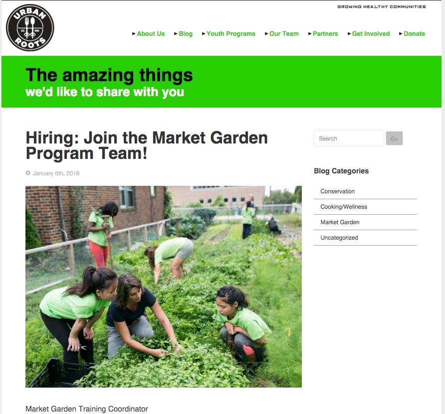 Urban Roots Website