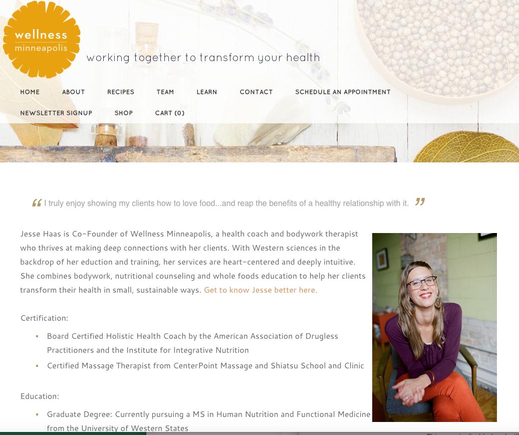 Wellness Minneapolis Website