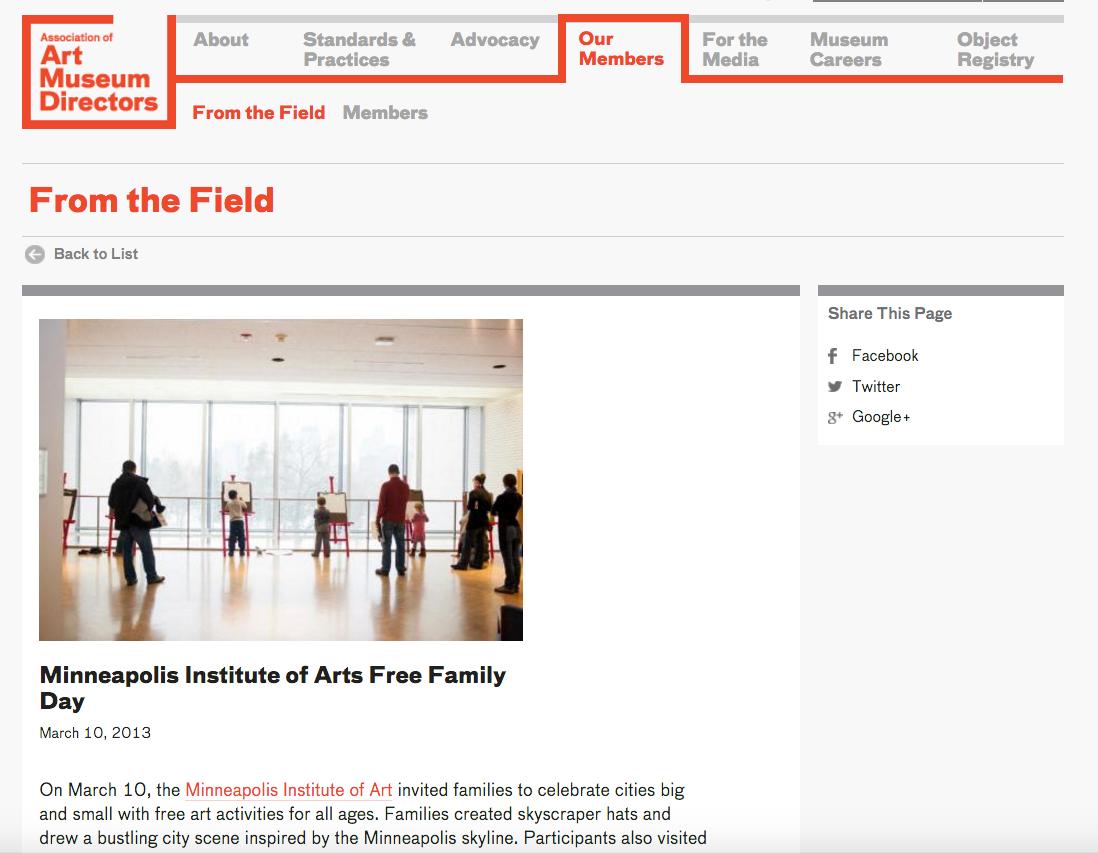 Association of Art Museum Directors Website