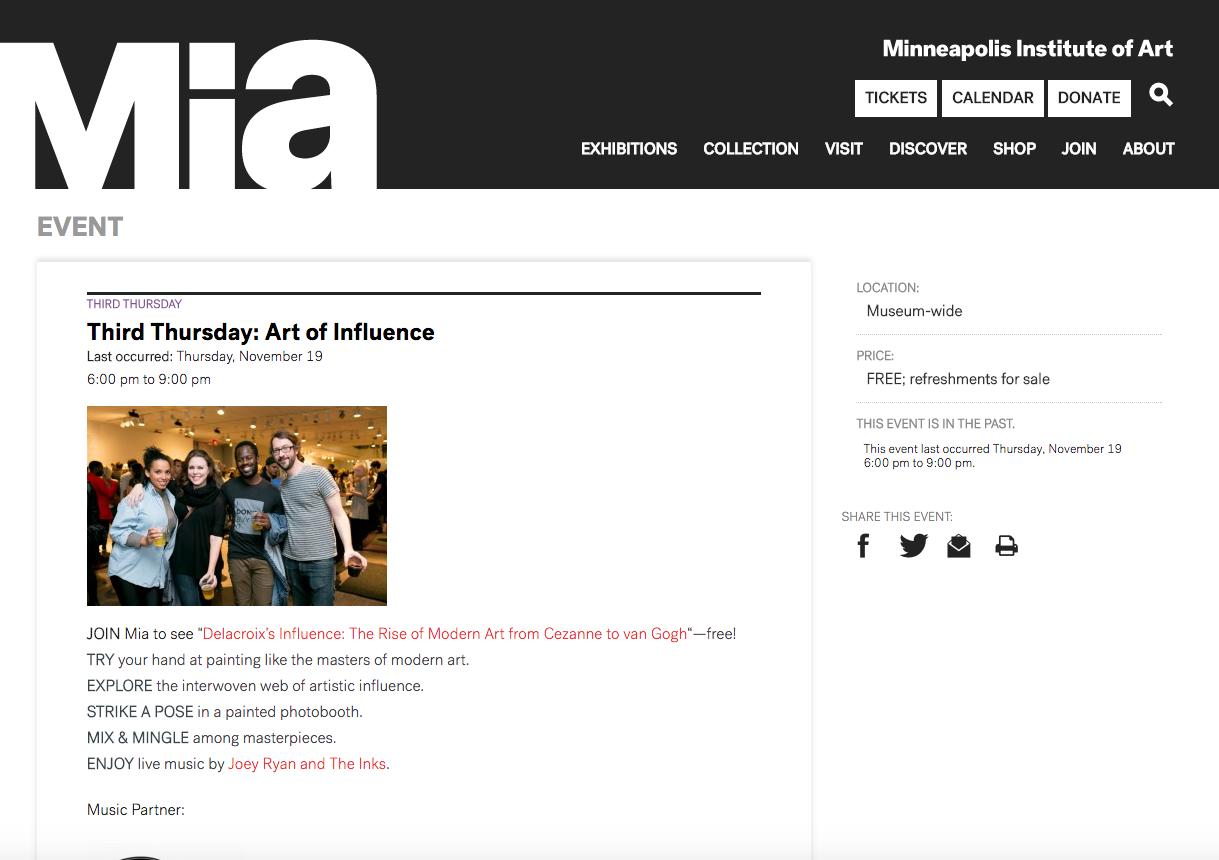 Minneapolis Institute of Art Website