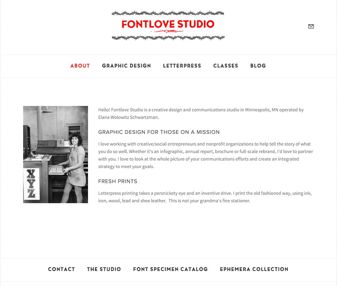 FontLove Studio Website