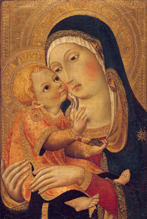"""""""Our Lady, in whose face – more than any other creature – we can recognize the features of the Incarnate Word."""" –Pope Benedict XVI Madonna and Child from the Robert Lehman Collection, Metropolitan Museum of Art"""