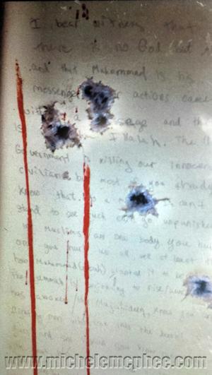 Dzhokhar Tsarnaev missive scribbled on dry-docked boat: Watertown, MA April 19, 2013