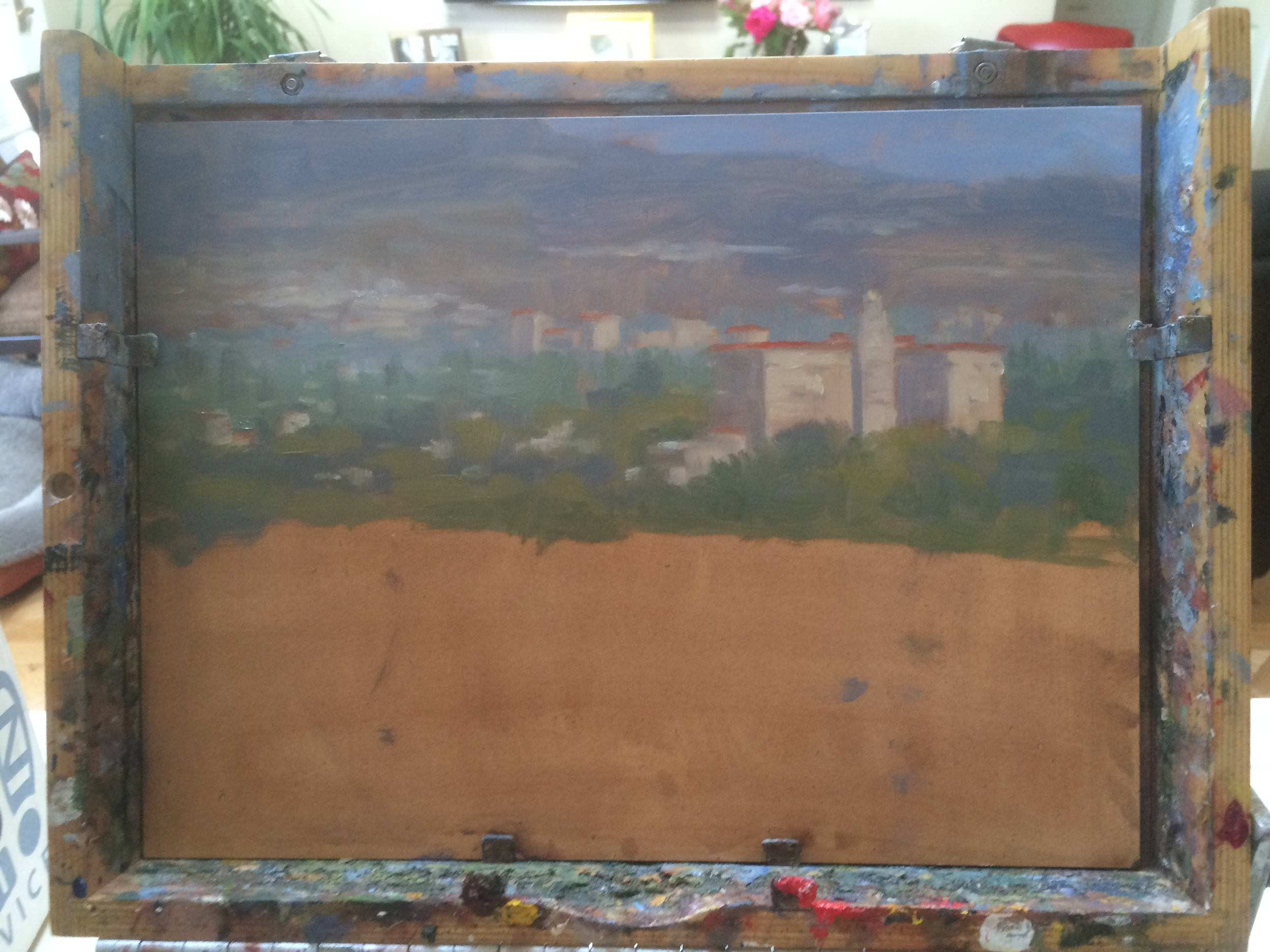 Pasadena Court of Appeals and San Gabriels, check. Next up, foreground, Colorado Street Bridge and 210 fwy.