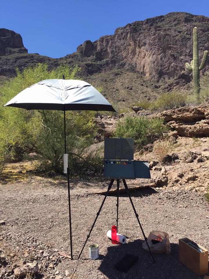 Finding Shade in Pacachu State Park, Arizona