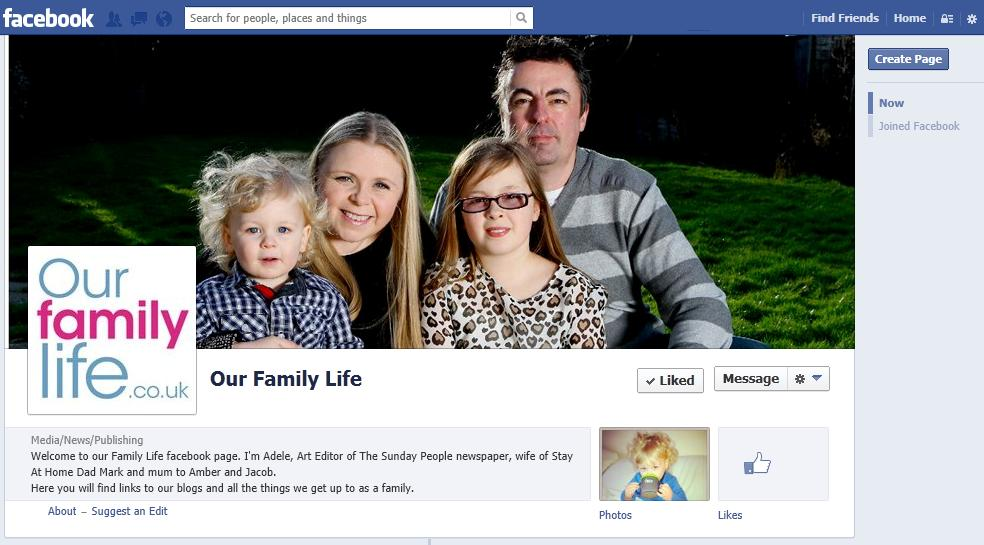 Like Our Family Life facebook page