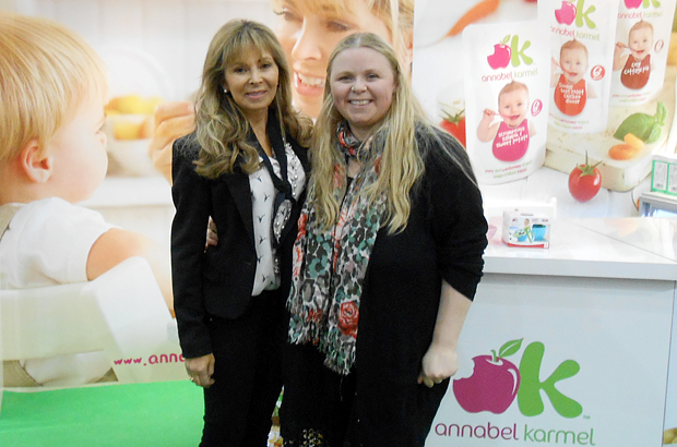 Annabel with Adele at the Baby Show at The Excel in London