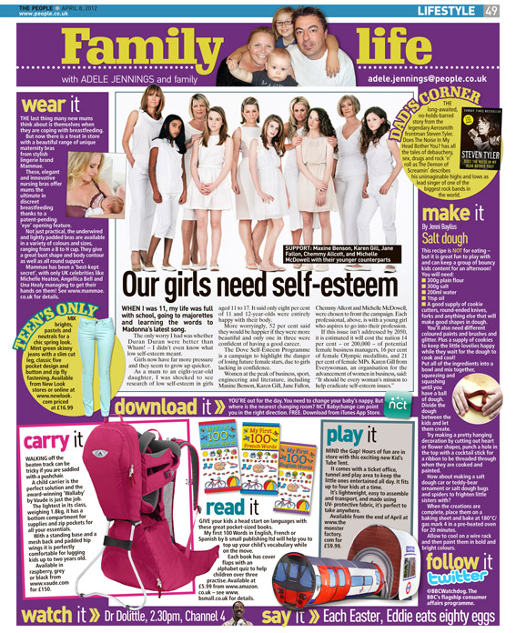 Published in The Sunday People, April 8 2012