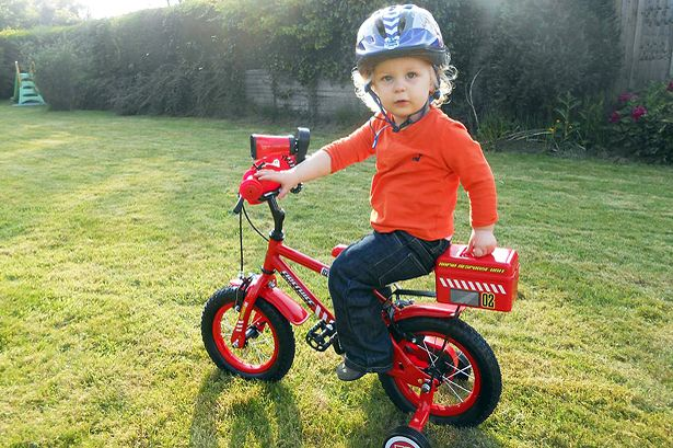 Jacob on his Apollo Firechief Boys Bike from Halfords