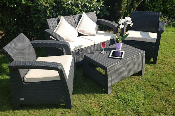 The Corfu Rattan Style Sofa Set from Keter