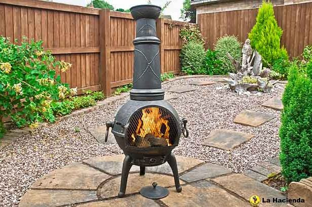 The cast iron chimenea from La Hacienda