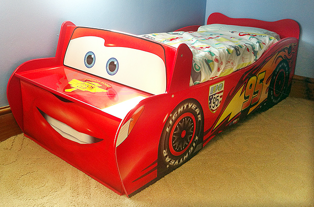 Disney Pixar Lightening McQueen toddler bed from Worlds Apart
